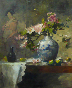 Apple Blossom and Vase