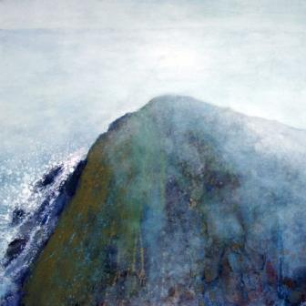 Calm misty morning, Sherkin, 61cm x 61cm