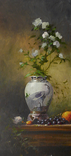 Composition with Vase and Roses