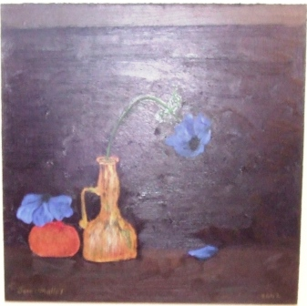 still life with venetian glass