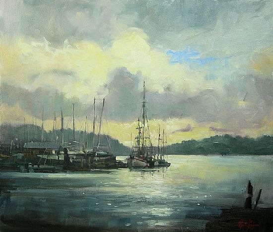 Estuary West Cork, Oil, 17x20inches