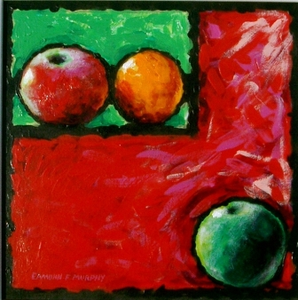 Fruit with green rectangle 60cm x 60cm