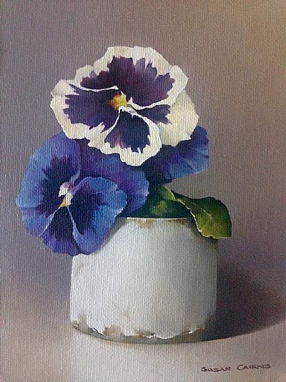 Little Pansies 18 x 13 cms