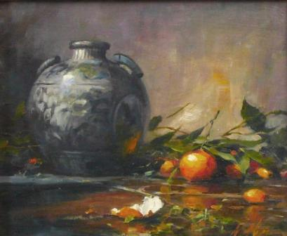 Chinese Vase with Crab Apples