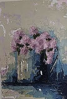 pink flowers 14 x 10